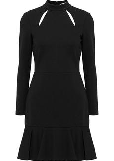 Alice + Olivia Woman Marisela Cutout Stretch-cady Mini Dress Black