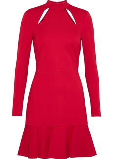 Alice + Olivia Woman Marisela Cutout Stretch-cady Mini Dress Red