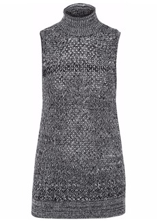 Alice + Olivia Woman Marled Wool And Cashmere-blend Turtleneck Sweater Black