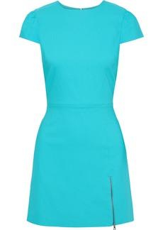 Alice + Olivia Woman Maya Zip-detailed Twill Mini Dress Turquoise