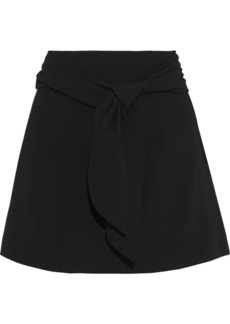 Alice + Olivia Woman Mayson Tie-front Crepe Mini Skirt Black