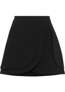 Alice + Olivia Woman Nicolina Layered Crepe Mini Skirt Black
