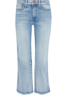 Alice + Olivia Woman Nothing To Lose Mid-rise Kick-flare Jeans Light Denim