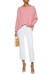 Alice + Olivia Woman Olivia Tie-back Knitted Sweater Baby Pink