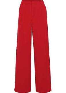 Alice + Olivia Woman Pleated Crepe Wide-leg Pants Red