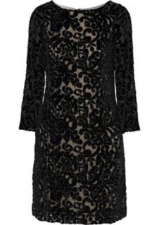 Alice + Olivia Woman Riska Embellished Devoré-chiffon Mini Dress Black