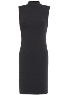 Alice + Olivia Woman Rissy Metallic Stretch-knit Mini Dress Black