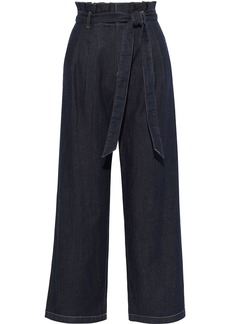 Alice + Olivia Woman Ryan Belted High-rise Wide-leg Jeans Dark Denim