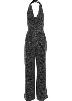 Alice + Olivia Woman Salem Crystal-embellished Crepe Halterneck Jumpsuit Black