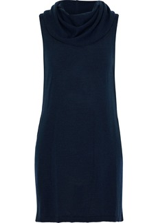 Alice + Olivia Woman Sharron Wool And Cashmere-blend Tunic Navy