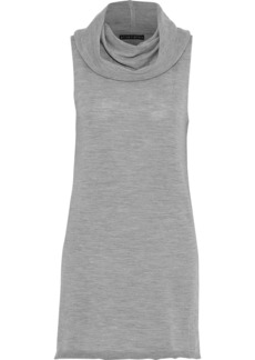 Alice + Olivia Woman Sharron Wool And Cashmere-blend Top Gray