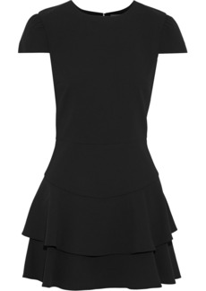 Alice + Olivia Woman Shay Tiered Crepe Playsuit Black