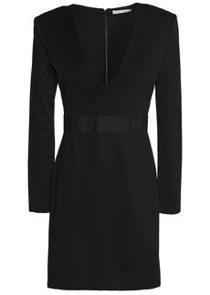 Alice + Olivia Woman Simone Grosgrain-trimmed Stretch-jersey Mini Dress Black