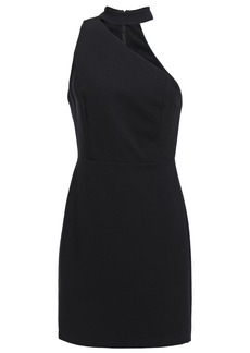 Alice + Olivia Woman Skyla One-shoulder Stretch-crepe Mini Dress Black