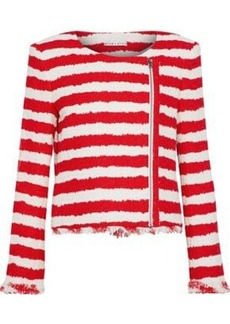Alice + Olivia Woman Stanton Striped Tweed Jacket Red