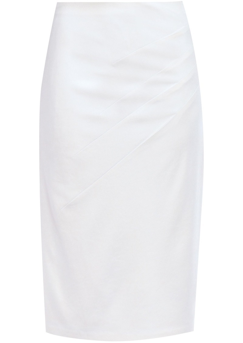 Alice + Olivia Woman Stretch-jersey Pencil Skirt White