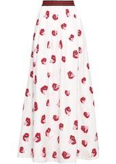 Alice + Olivia Woman Tina Sequin-embellished Satin-crepe Maxi Skirt Off-white