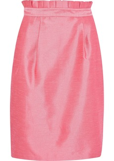 Alice + Olivia Woman Toni Pleated Shantung Skirt Bubblegum