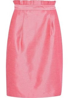 Alice + Olivia Woman Toni Pleated Shantung Skirt Pink