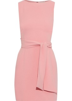 Alice + Olivia Woman Virgil Belted Cady Mini Dress Baby Pink