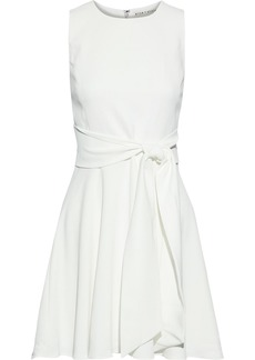 Alice + Olivia Woman Welsey Belted Cady Mini Dress White