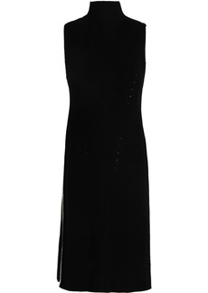 Alice + Olivia Woman Wool-blend Turtleneck Dress Black
