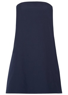 Alice + Olivia Woman Zoya Strapless Cotton-poplin Mini Dress Indigo