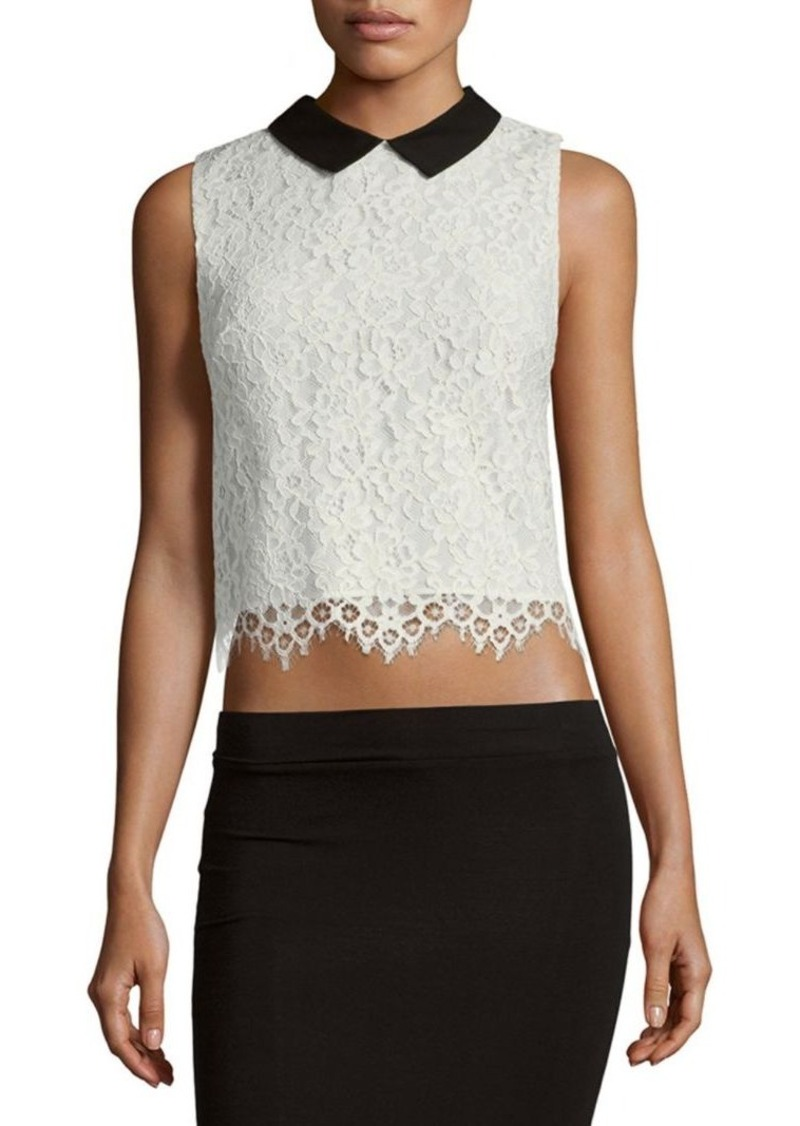 Alice + Olivia Wylie Collared Top