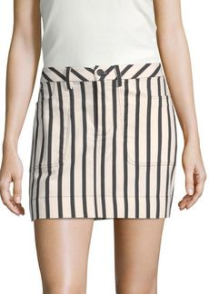 Alice + Olivia Gail Striped Mini Skirt