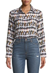 Alice  olivia alice  olivia x donald robertson willa crazy pants printed silk button down top abv9a4940e4 a