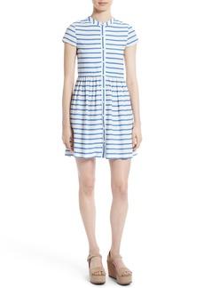 Alice + Olivia York Stripe Button Down Boxy Dress