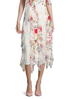 Yula Silk Midi Skirt