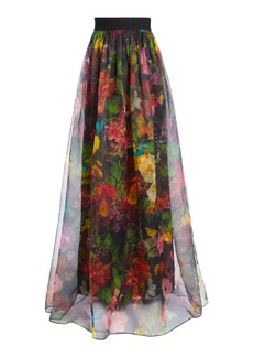alice + olivia YVONNE FLORAL MAXI GOWN SKIRT