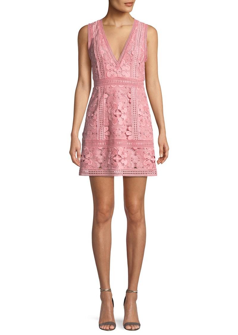 016609e1f149 On Sale today! Alice + Olivia Zula Sleeveless V-Neck Lace Mini Party ...