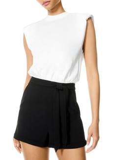 Alice + Olivia Alice and Olivia Braxton Belted Combo Romper