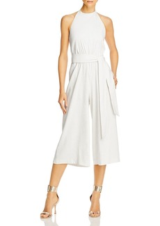 Alice + Olivia Alice and Olivia Franny Belted Halter Neck Jumpsuit
