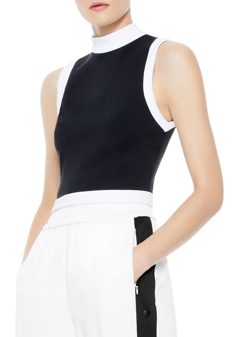 Alice + Olivia Alice and Olivia Mory Color Blocked Crop Top