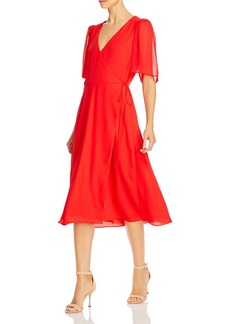 Alice + Olivia Alice and Olivia Suri Flutter-Sleeve Wrap Dress