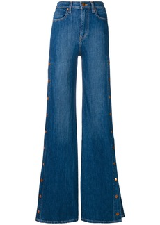 Alice+Olivia buttoned side flared jeans - Blue