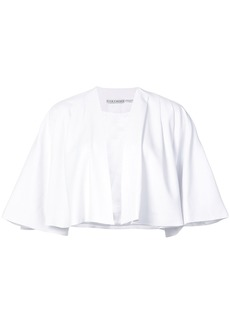 Alice + Olivia Alice+Olivia cape cropped jacket - White