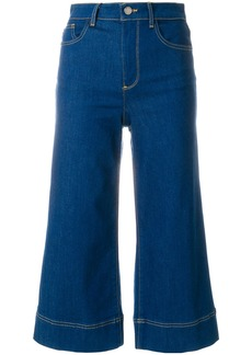 Alice + Olivia Alice+Olivia cropped flared jeans - Blue