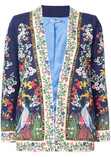 Alice + Olivia Alice+Olivia embroidered floral jacket - Blue