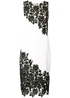 Alice + Olivia Alice+Olivia embroidered lace panel dress - White