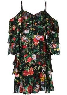 Alice + Olivia floral print frill trim mini dress