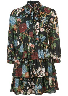 Alice + Olivia floral print pussy-bow dress