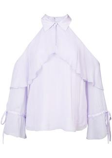 Alice + Olivia frill cold-shoulder blouse