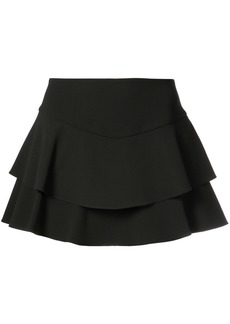 Alice + Olivia Alice+Olivia frill layered shorts - Black