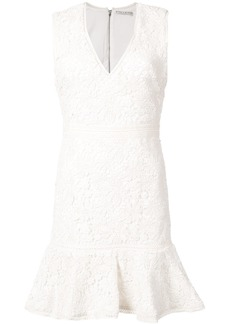 Alice + Olivia Alice+Olivia lace embroidered mini dress - White