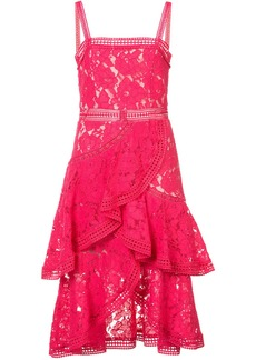 Alice + Olivia Alice+Olivia layered lace dress - Pink & Purple