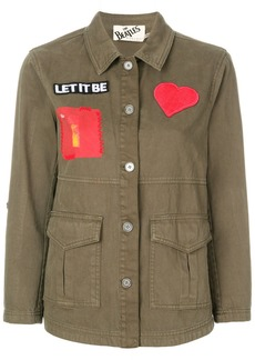 Alice + Olivia Alice+Olivia patch military jacket - Green
